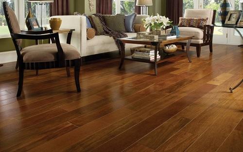 gạch giả gỗ cho phòng khách