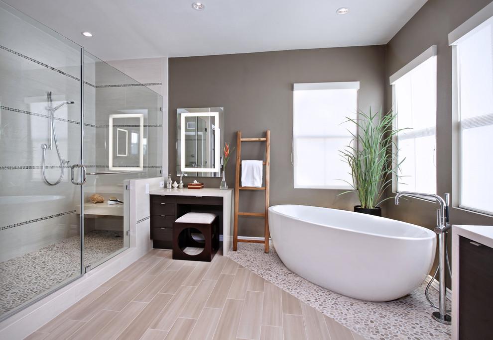 gạch giả gỗ cho phòng tắm